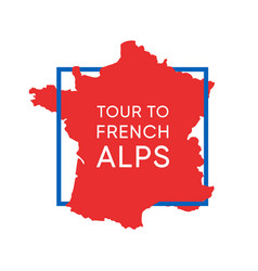 logo with map france in national colors vector image