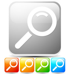 Magnifier glass icon in various colors vector