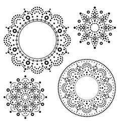 mandala australian dot paiting set vector image