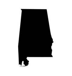 map of the us state alabama vector image