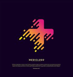 Medical tech logo design concept colorful fast vector