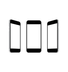 mobile phones with front and side views vector image