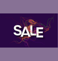 modern design template sale banner with color line vector image