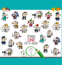 One a kind game with professionals color book vector