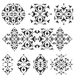 Oriental border and ornament nineteen vector