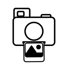 photo camera picture image icon line vector image