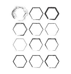 polygon brush stroke set vector image