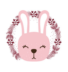 Rabbit only face vector