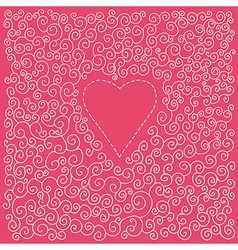 romantic valentine card with heart vector image
