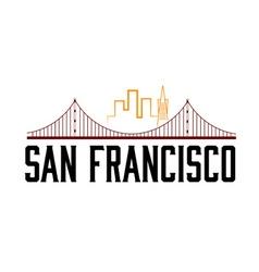 San Francisco skyline vector