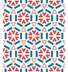 Seamless ceramic winter snowflake pattern vector