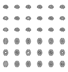 Set of brain icons vector