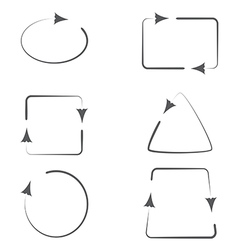 Set of Frames with Arrows vector