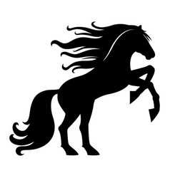 sign of a black horse vector image