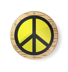 Sign pacifist peace symbol black hippie sign in vector