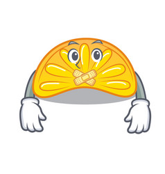Silent orange jelly candy mascot cartoon vector