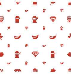 Slot icons pattern seamless white background vector
