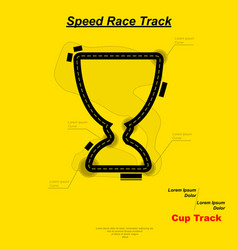 speed cup race vector image