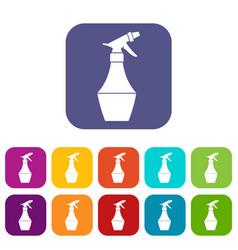spray bottle for flower icons set vector image vector image