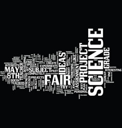 Th grade science fair project ideas text vector