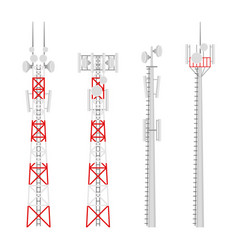 Transmission cellular wireless towers set vector
