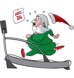 treadmill santa vector image