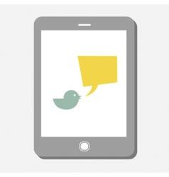 Tweet bubble on screen vector