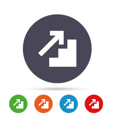 Upstairs icon up arrow sign vector
