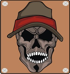 Wear skull caps vector