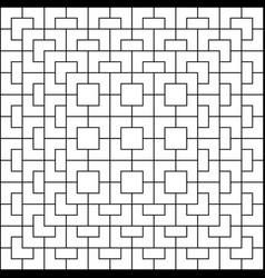white geometric pattern on white background vector image