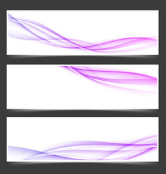 Womanly swoosh lines abstract flyers set vector