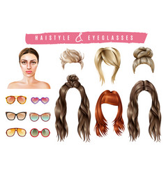 Women style constructor set vector