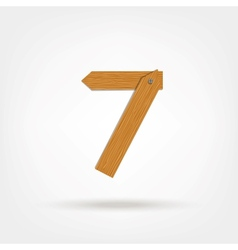 Wooden Boards Number Seven vector image