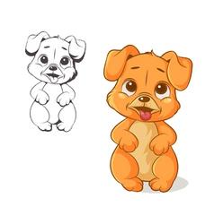 funny puppy vector image vector image