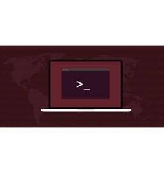 Linux interface screen vector
