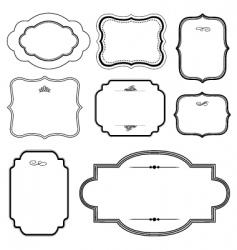 matching frames set vector image vector image