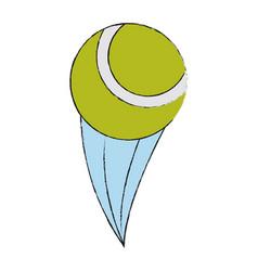 Tennis ball isolated vector