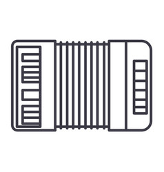 accordion line icon sign on vector image vector image