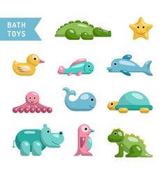 Baby bath toys vector