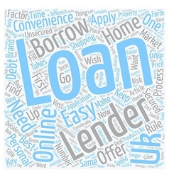 Easy UK Loans Loans Now Come Handy text background vector image