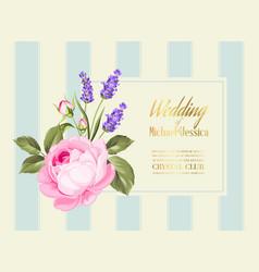 gold wedding invitation vector image
