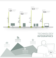 Infographic technology design time line template vector image