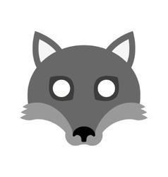 Cartoon mask of wolf for halloween vector