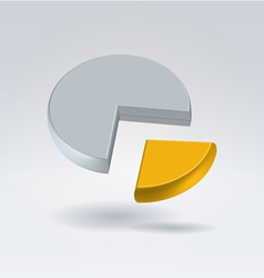 golden quarter vector image
