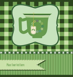 green tea background vector image