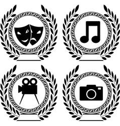 set of symbols of achievement vector image vector image