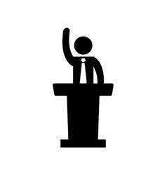 speaker man icon vector image