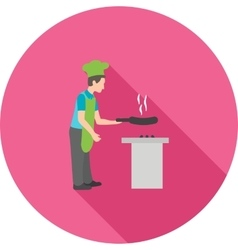 Chef cooking vector