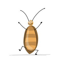funny cockroach for your design vector image