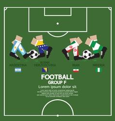 Group F 2014 Football Tournament vector image